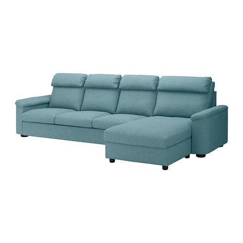 Ikea Lidhult Sectional 4 Seat With Chaise Gassebol Blue Gray Ikea Sofa Bed Ikea Sofa Sleeper Sofa