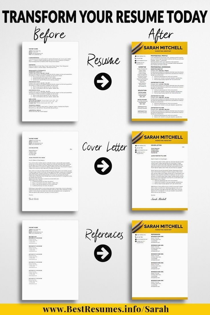 Creative resume template sarah mitchell downloadable