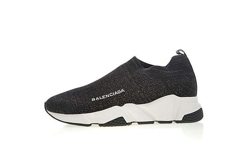 39ff0cc332bf Unisex Balenciaga Speed Stretch Knit Low Noir Blanc Noir Sole WOXH8681