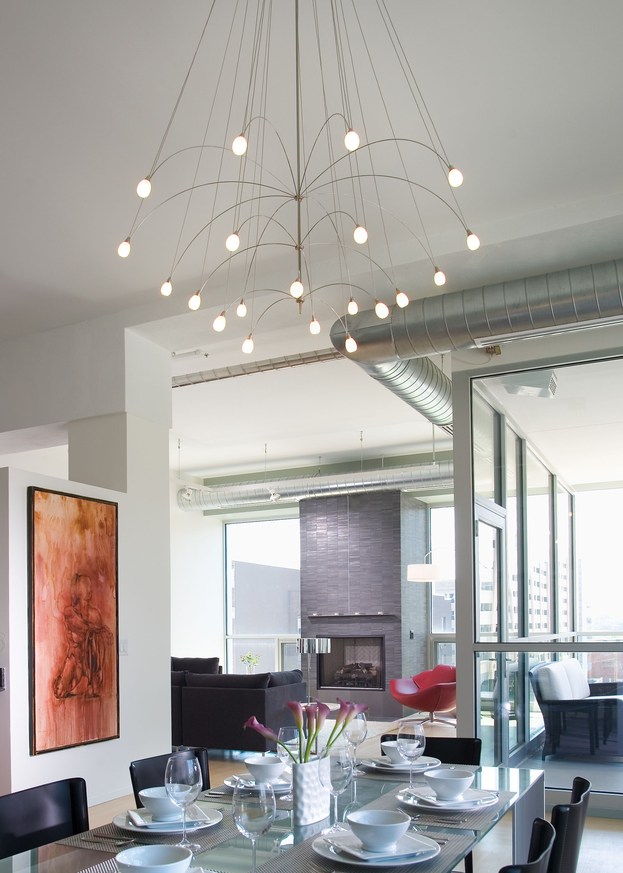 How To Choose The Right Modern Chandelier For Your Dining Room Ylighting Ideas Lbl Lighting Dining Chandelier Chandelier