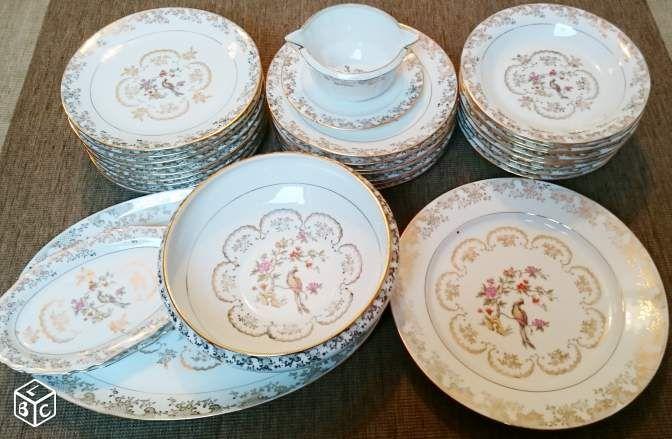 Service vaisselle ancienne porcelaine de Limoge Arts de la table Paris - leboncoin.fr