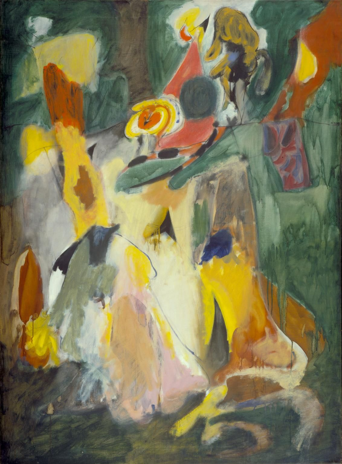 Abstract expressionism arshile gorky 39 waterfall 39 1943 for Abstract impressionism definition