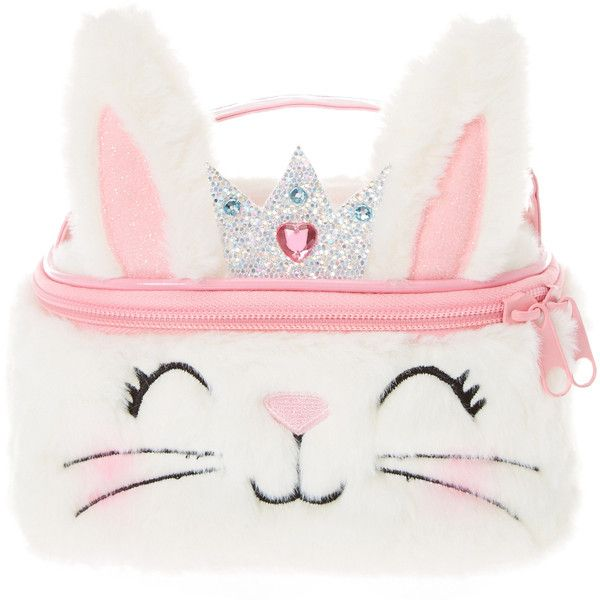 39015d0d5430 Princess Bunny Cosmetic Bag | Claire's ($35) ❤ liked on Polyvore ...