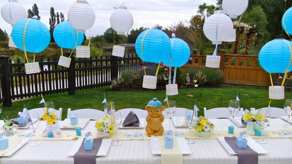 Sky themed backyard baby shower designed and planned by for Backyard baby shower decoration ideas