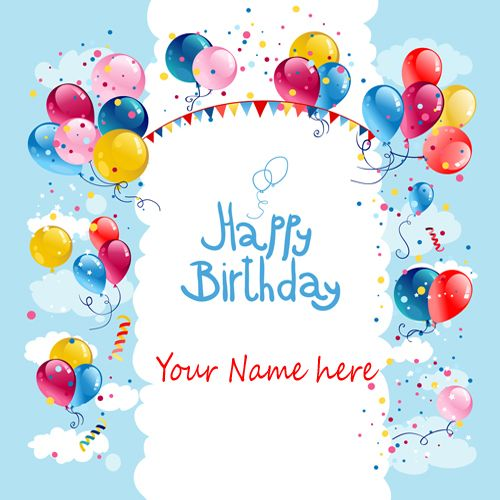 Write Name on Birthday Cake A Pinterest – Birthday Greeting Cards with Name