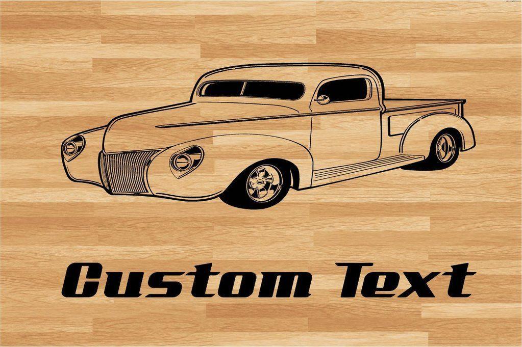 Chevy Truck Car muur sticker - Auto muurschildering - Vinyl Stickers - Decor van de jongenska... Ch