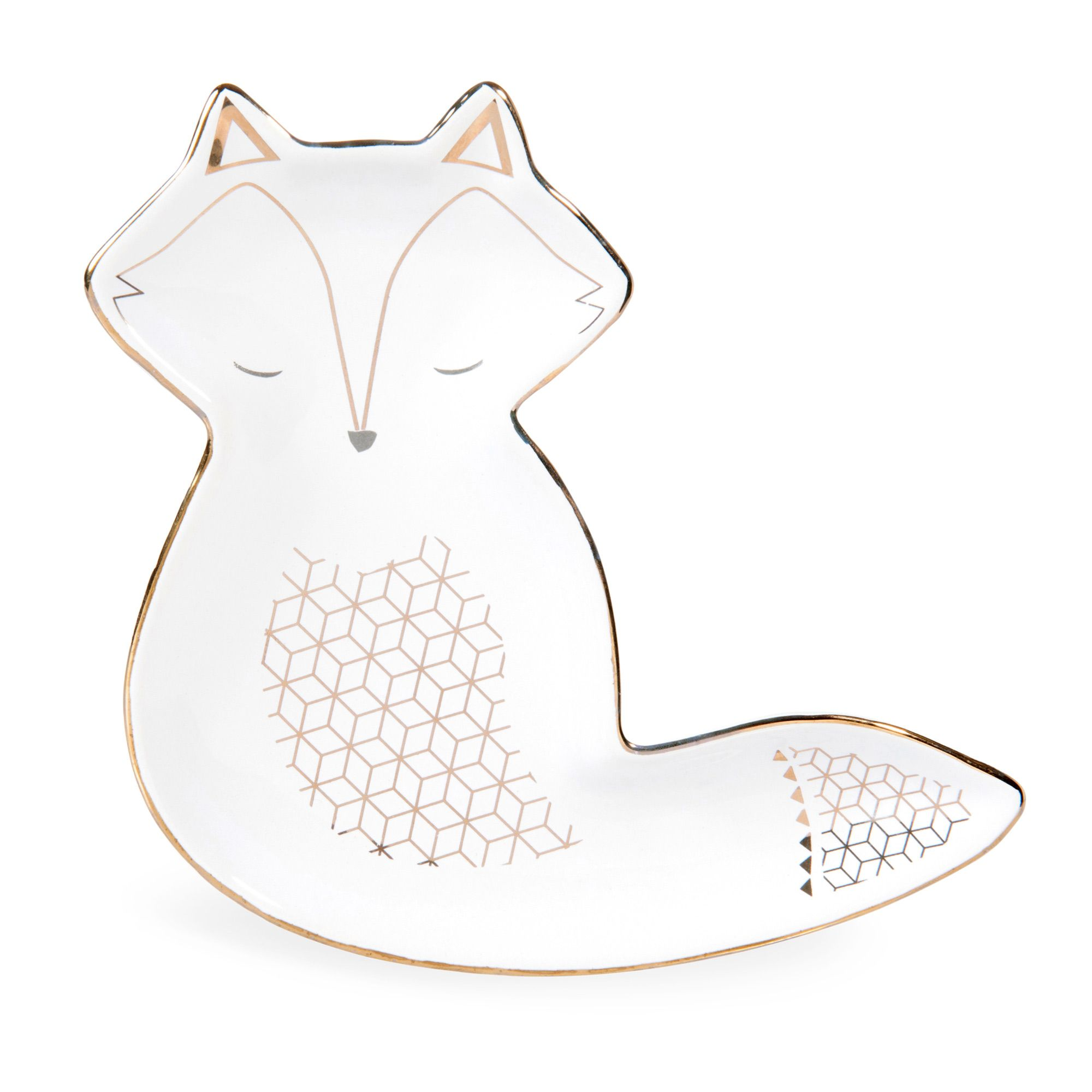 Maisons Du Monde Jewellery Box Coupelle Renard En Céramique Blanche Fox 餐具櫃