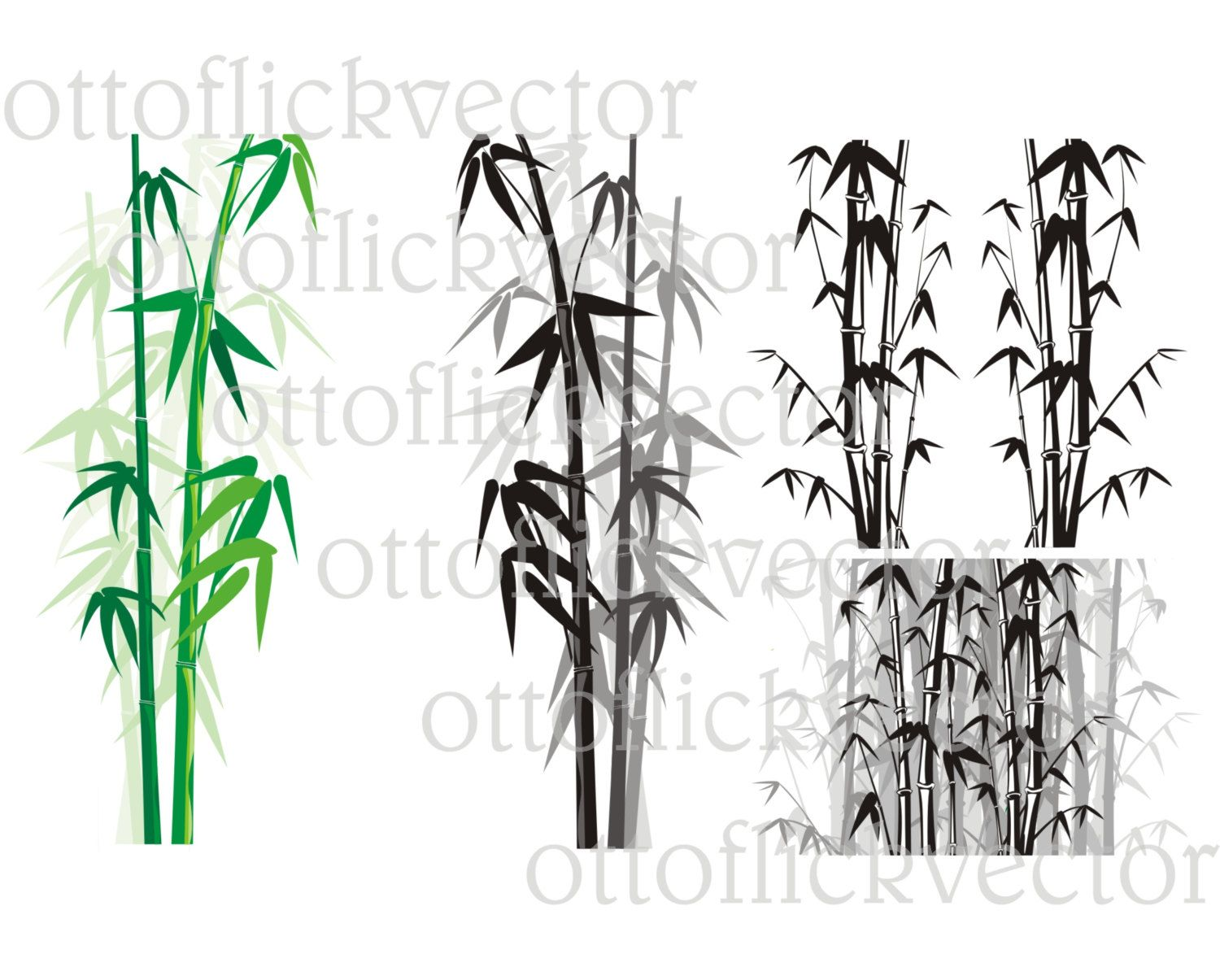 BAMBOO BACKGROUND FRAME vector clipart eps, ai, cdr, png, jpg ...
