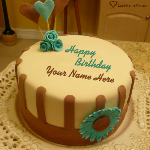 Cartoon Birthday Cake For Kids With Name Name Birthday Cakes for