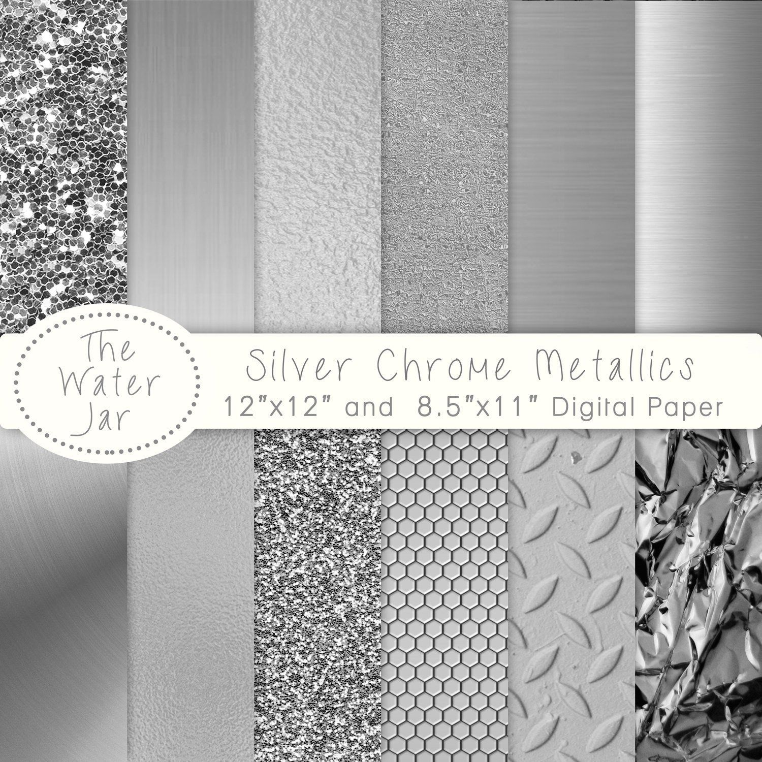 photo about Printable Foil Paper identified as Silver electronic paper, Place Grey Printable Metal, Chrome