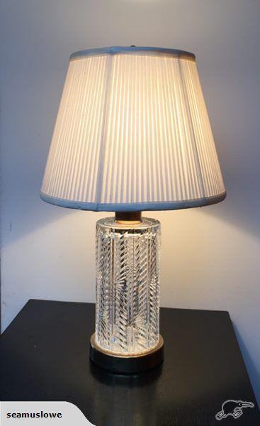 Vintage Waterford Crystal Table Lamp, Waterford Crystal Lamp Patterns