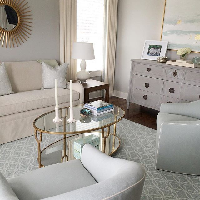 Major #TBT to this serene master bedroom sitting area ...