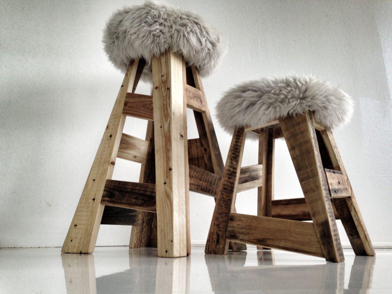 Sgabello Pallet ~ Design pallet stools pallet riciclo e legno