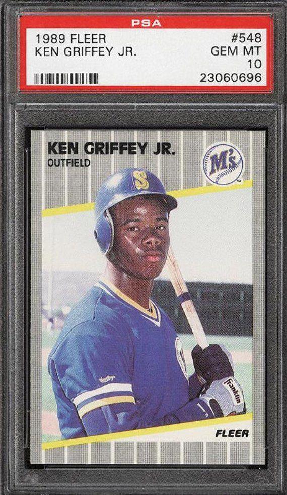 cefd933916 Base #1 Ken Griffey Jr 1989 Upper Deck - Baseball Card Graded PSA 9 MINT