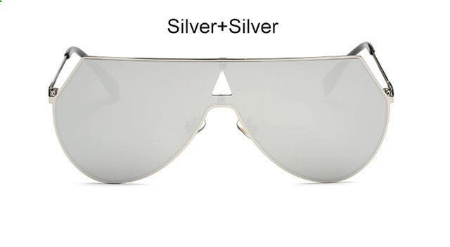 TSHING 2017 New Oversized Sunglasses Vintage Women Men Big Metal ...