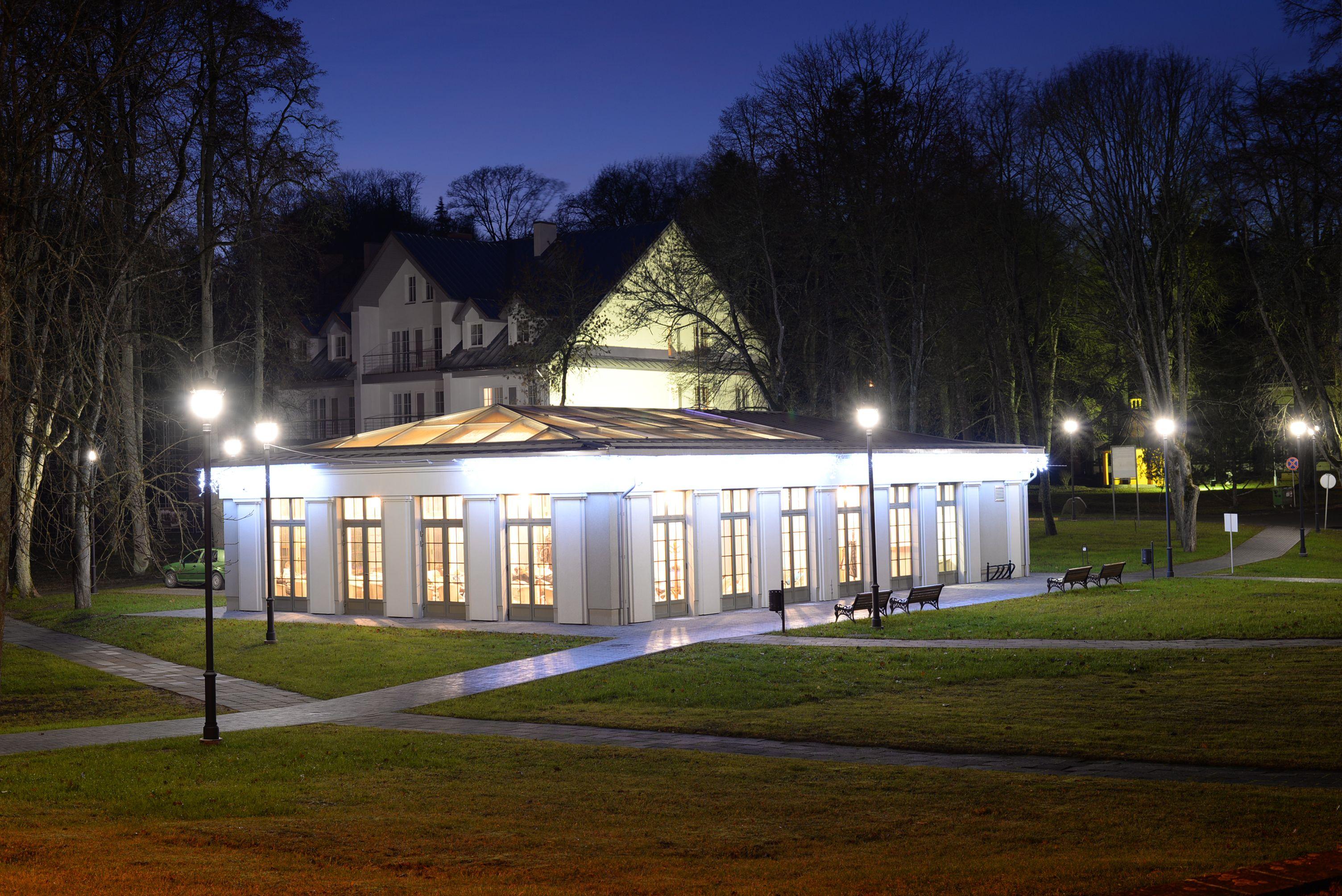 "Mineralinio vandens paviljonas ""Birutės vila"" Birštone // Mineral water pavilion in Birstonas ""Birutes villa"""