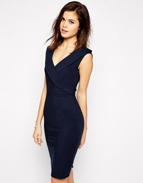 4631bcda Paper Dolls Pencil Dress With Tuxedo Neckline | Ariah | Dresses ...