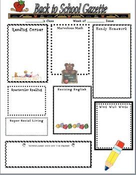 Back To School Home Newsletter  Homework School And Class Newsletter