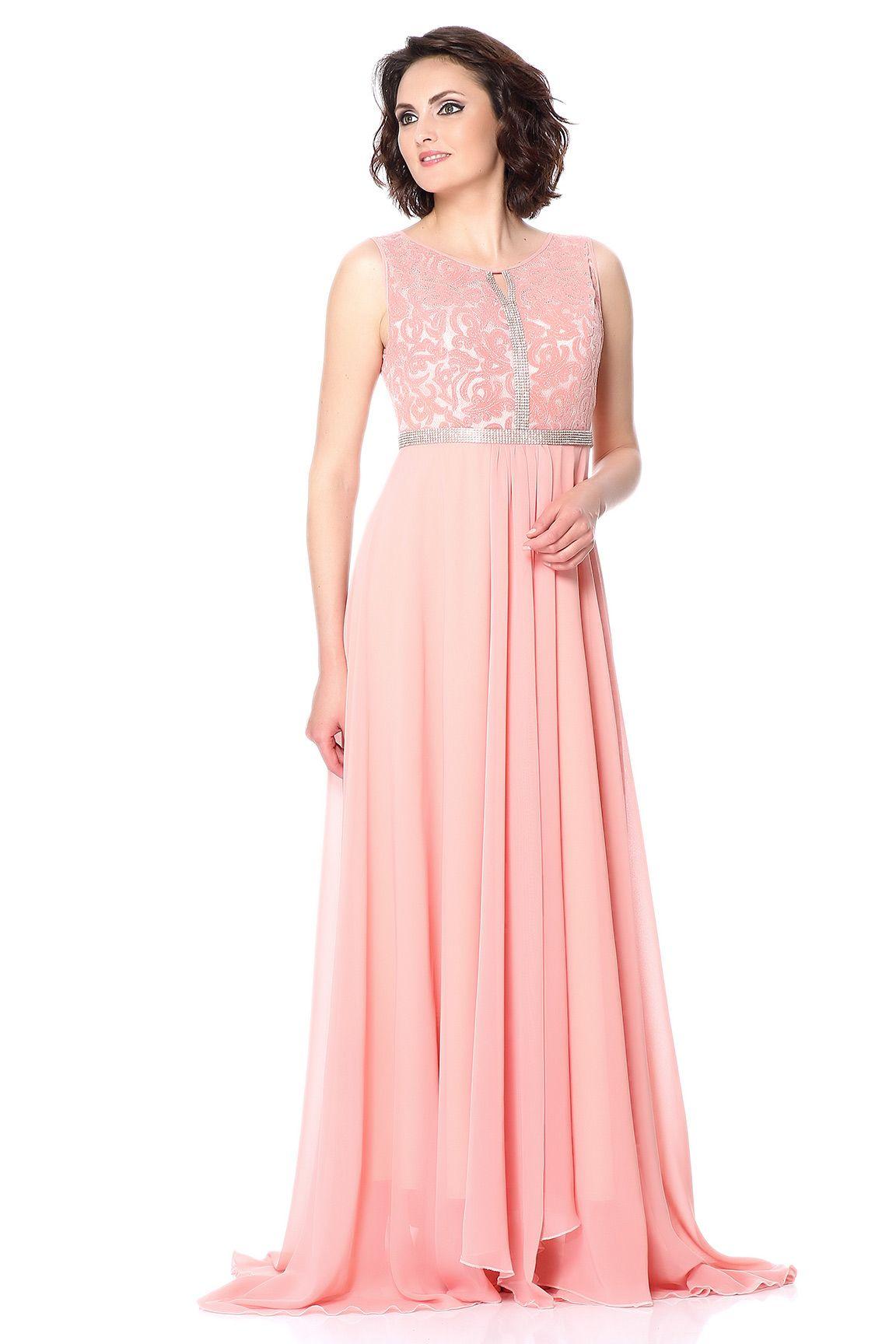 b34db4e923405 Somon Abiye - Somon rengi uzun abiye elbise - #abiye #elbise #modelleri