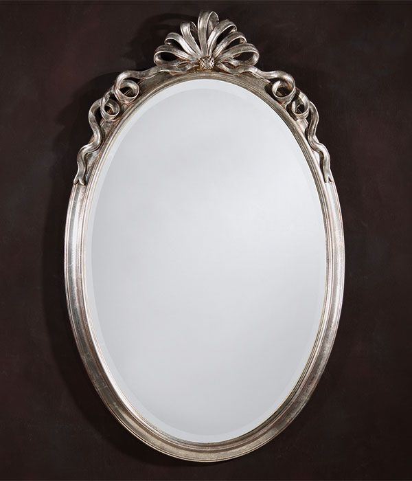 Oval Mirror Oval Neoclassic Style Carved Wood Wall Mirror With