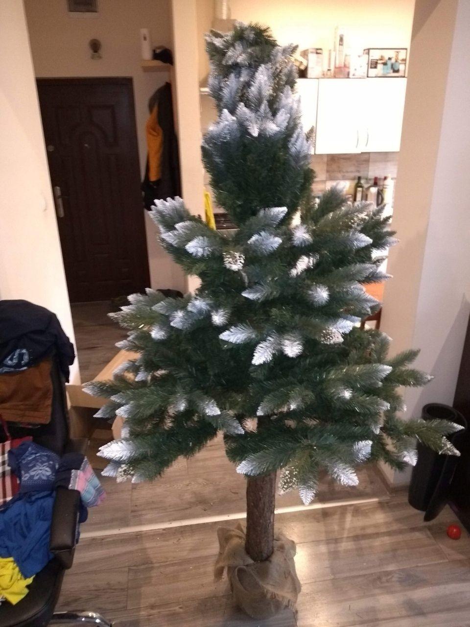 Choinka Sztuczna Na Pniu Sosna Diamentowa 215 Cm 7461191518 Allegro Pl Wiecej Niz Aukcje Christmas Tree Holiday Decor Holiday