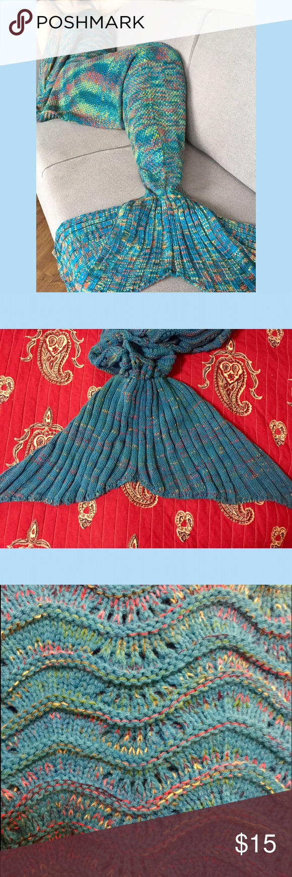 Mermaid Tail Blanket Snuggle up in this knit mermaid tail, rest your fins and enjoy a movie or a good book. Brand new with tags, never used. Every fish in the sea is sure to be happy as a clam with this fun, stylish trend! Intimates & Sleepwear Pajamas