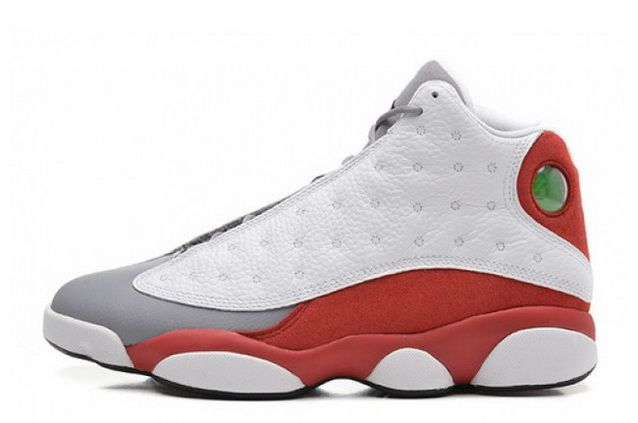 cd1292e59709 Mens Air Jordan 13 Retro Grey Toe White Black-True Red-Cement Grey ...