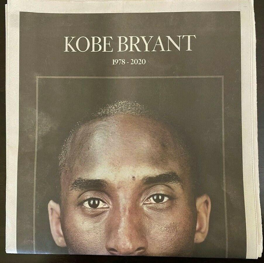 Kobe Bryant Los Angeles Times La Lakers Tribute Newspaper In 2020 Kobe Bryant Los Angeles Kobe Bryant Kobe