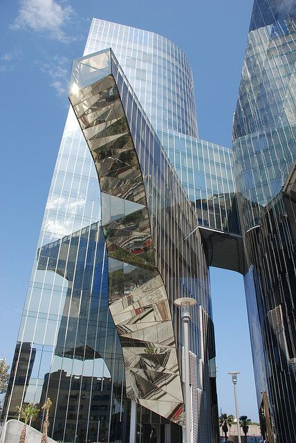 Gas Natural headquarters in Barcelona by Benedetta Tagliabue. @designerwallace