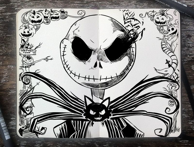 271 Jack Skellington by 365-DaysOfDoodles.deviantart.com on ...
