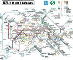 Berlin S Bahn U Bahn Map Berlin Berlin Map Subway Map - Berlin-us-bahn-map