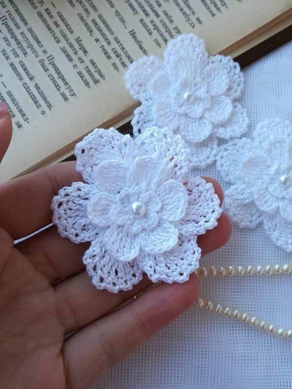 Lindas Flores e rosas feitas em Crochê para aplicações e trabalhos de Crochê #crochetflowers