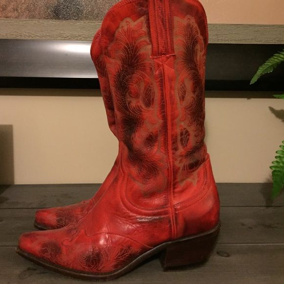 RED Charlie 1 Horse Cowboy Boots Charlie 1 Horse Cowboy Boots in Red! Only worn once!!! Charlie 1 Horse Shoes