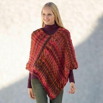 modele gratuit de poncho au tricot