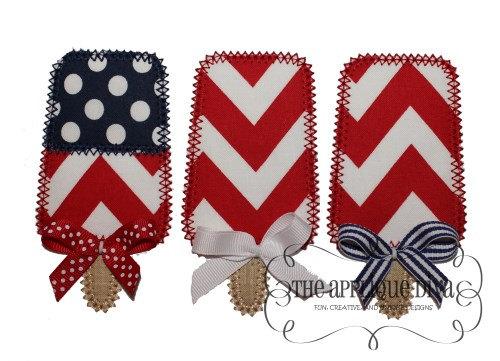 4th Of July Flag Pops Digital Embroidery Design Machine Applique