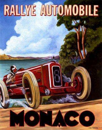 Monaco Poster 1958 Flashbak In 2020 Grand Prix Posters Vintage Racing Poster Monaco Grand Prix Posters