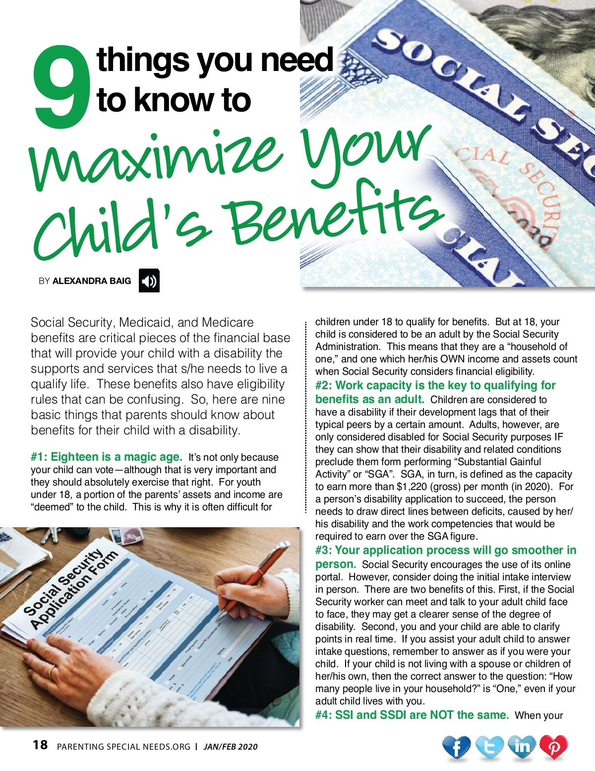 Social Security, Taxes, or Disability benefits might seem