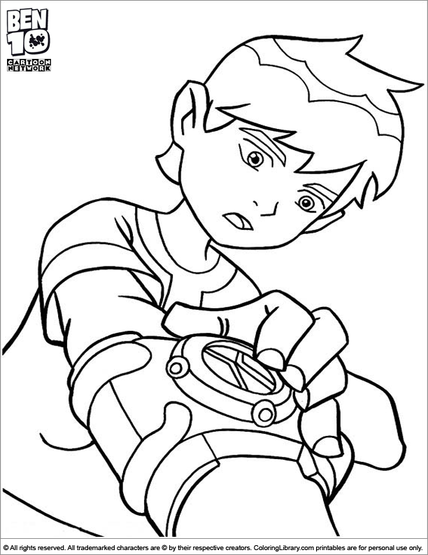 Ben 10 Coloring Sheet Is Using His Watch Coloring Pages Cartoon Coloring Pages Coloring Books