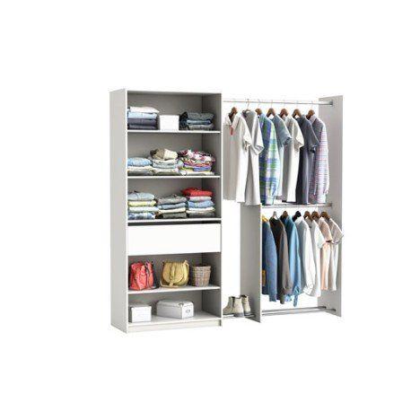 Kit Dressing Blanc Xxl H 203 X L 208 X P 50 1 Cm Dressing Blanc Amenagement Placard Faire Un Dressing