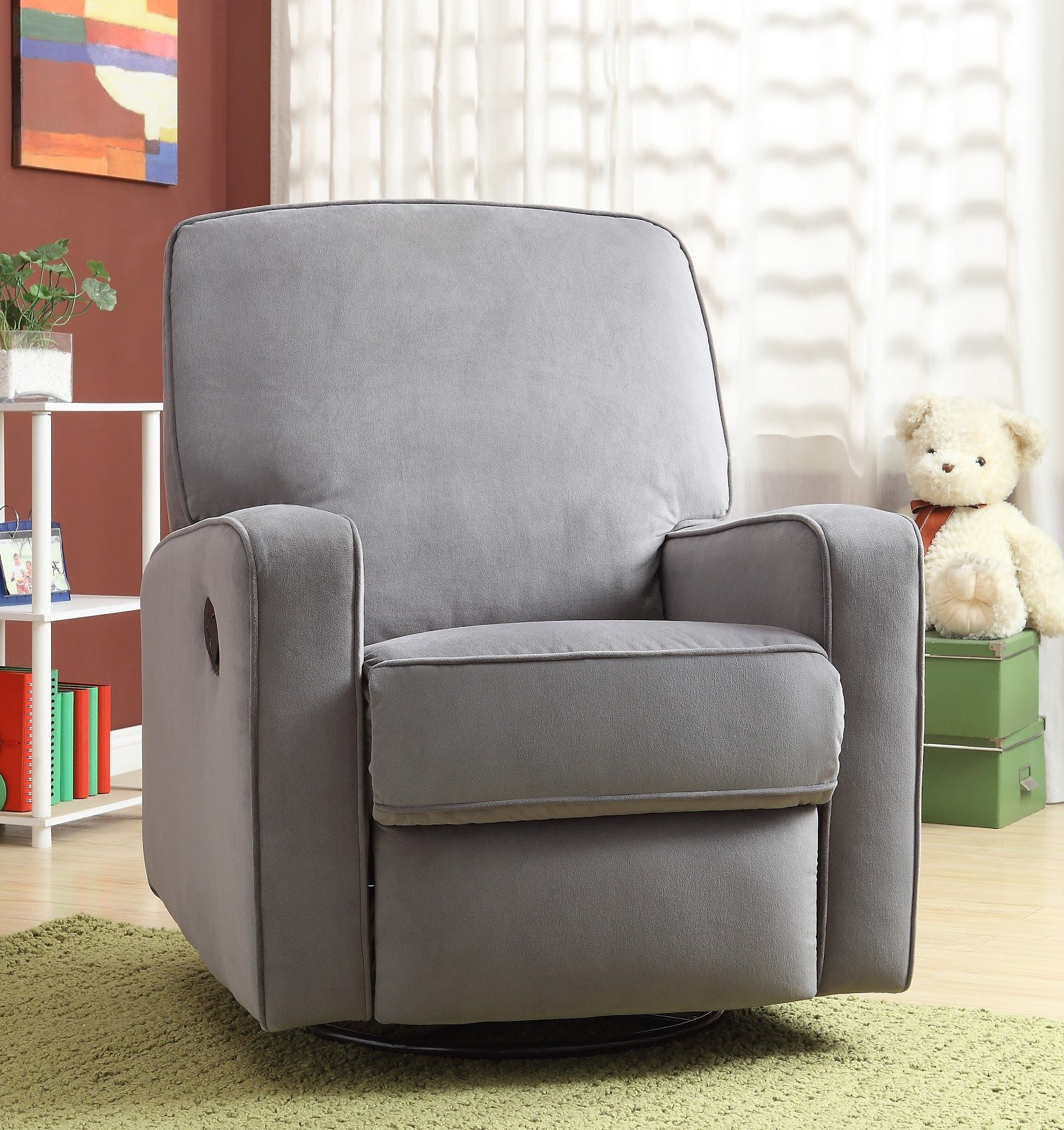 glider chair with ottoman india yoga ball chairs in the classroom rocker recliner home design ideas