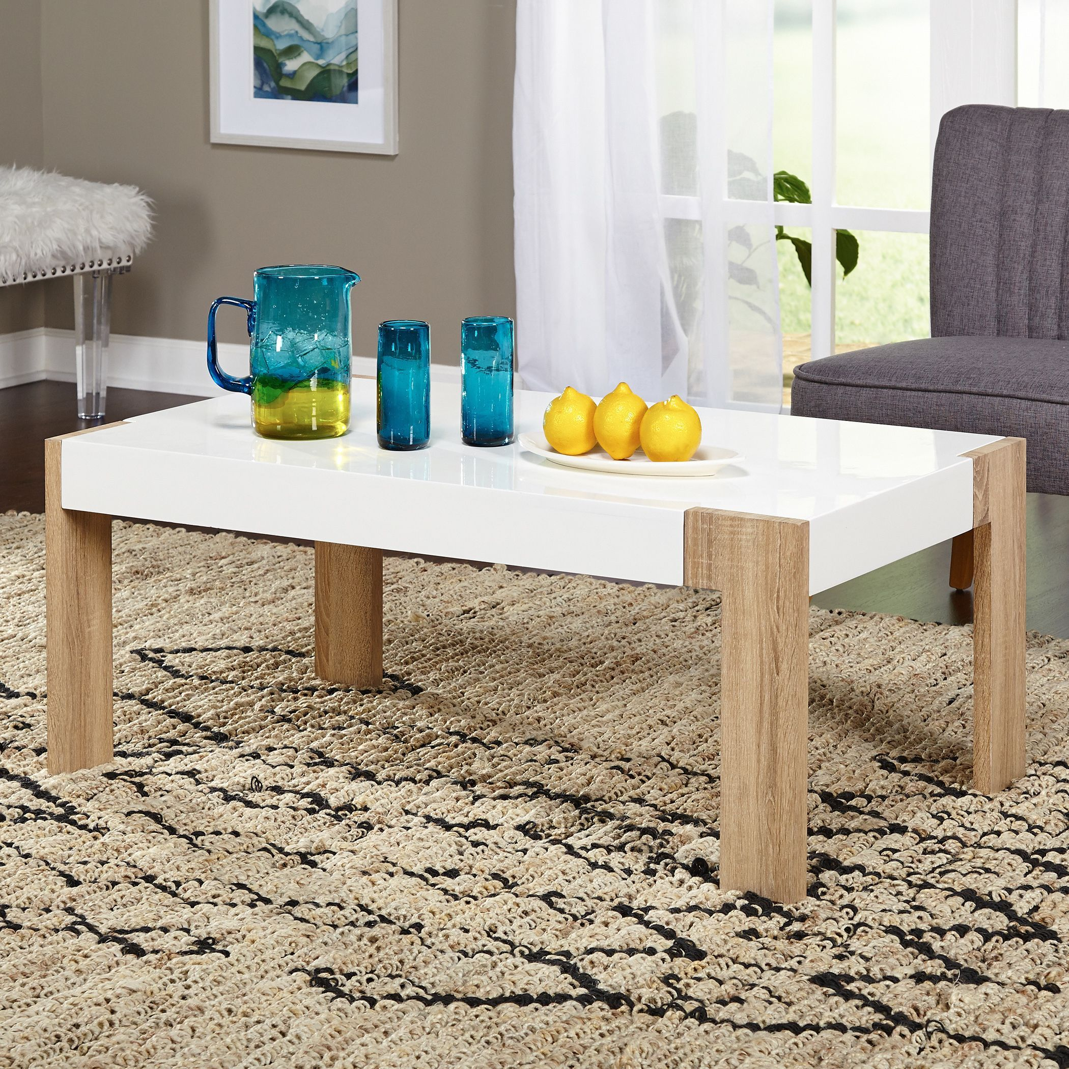 The simple living smart coffee table lends a modern look to any the simple living smart coffee table lends a modern look to any area the white geotapseo Choice Image