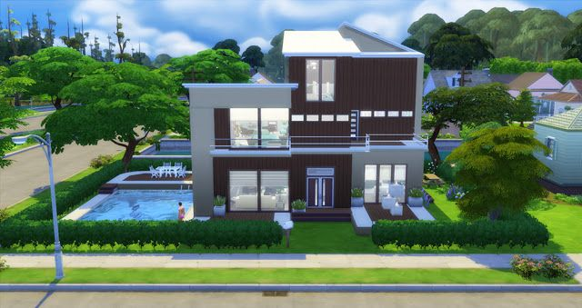 Sims 4 Houses and Lots: Modern Natural Home  Sims 4 ...