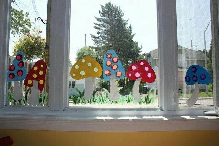 pilze #herbstbastelnmitkindernfensterbilder