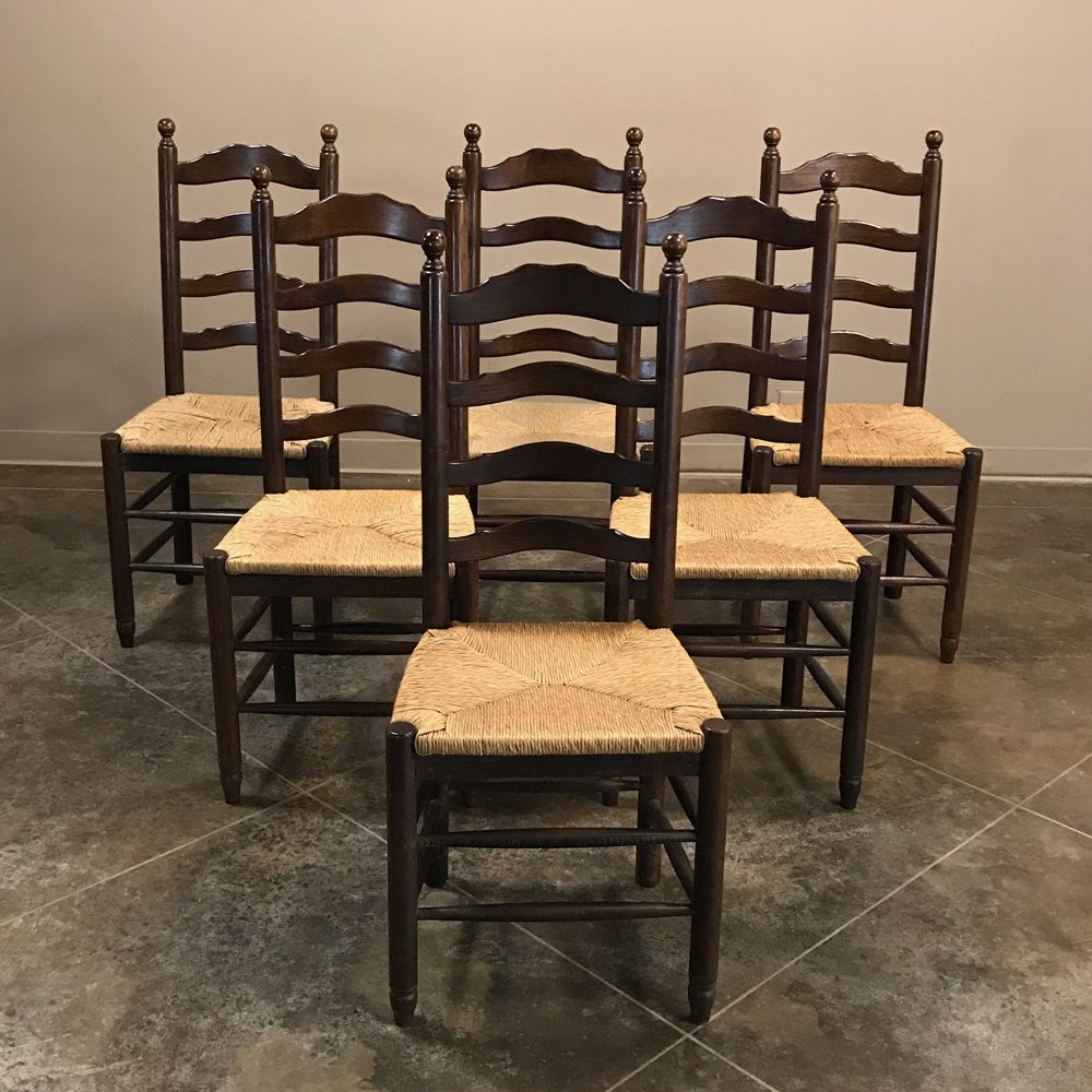 Wood Dining Chairs With Rush Seats
