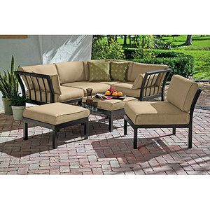 Ragan Meadow 7 Piece Outdoor Sectional Sofa Set, Seats 5 (after We Pressure