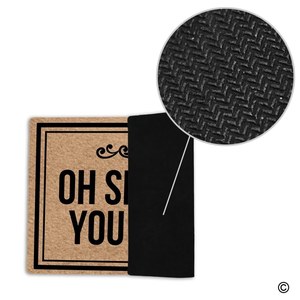 Msmr Funny Doormat Entrance Floor Mat Oh Shit Not You Again