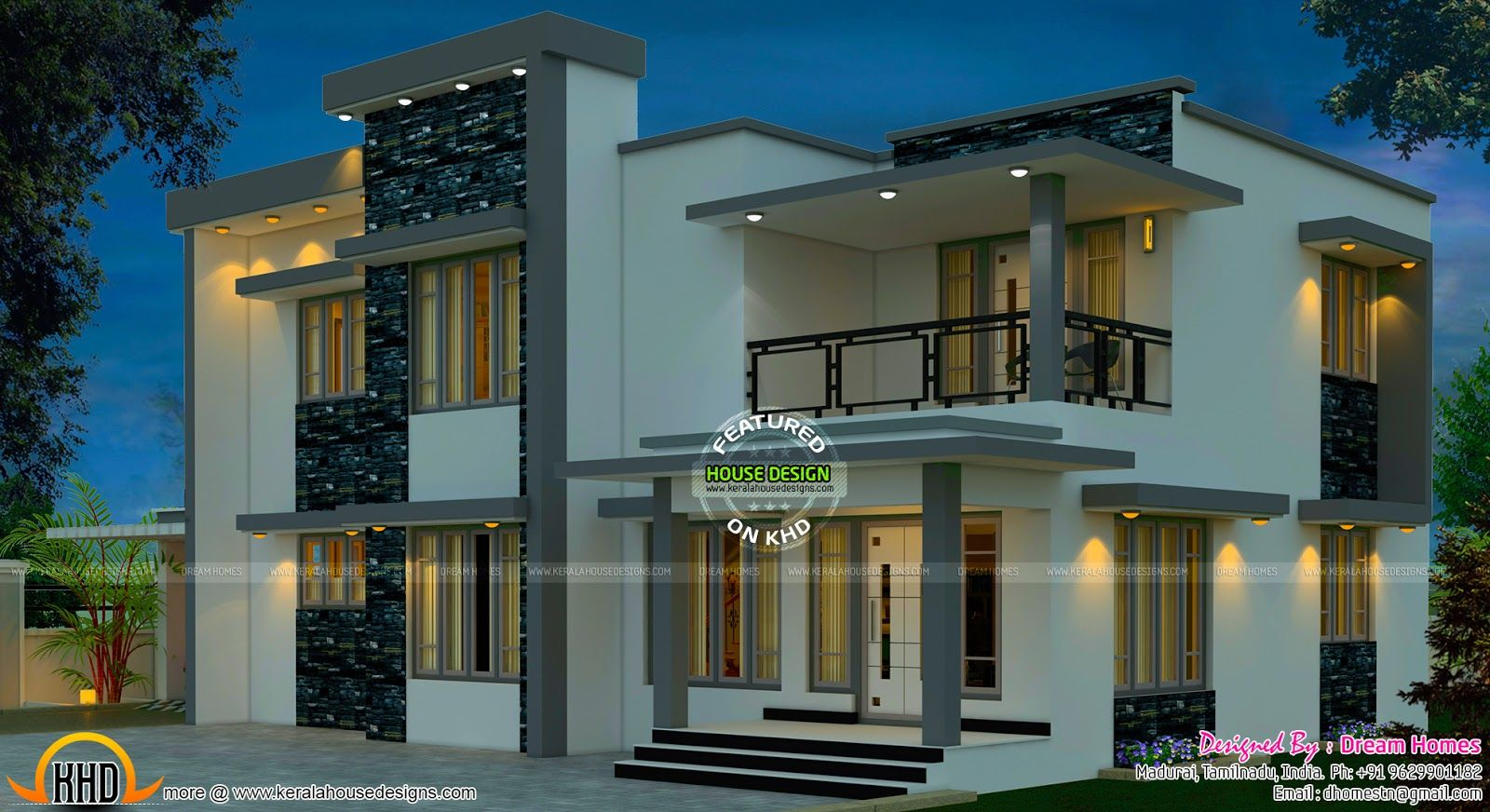 South Indian Home Design Kerala And Floor Plans Bedroom Apartment House