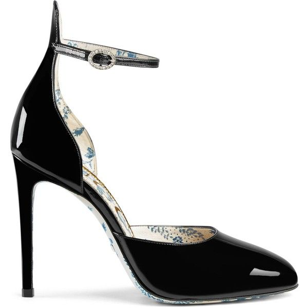 7f0160df9adb6a Gucci Patent Leather Pump ( 950) ❤ liked on Polyvore featuring shoes