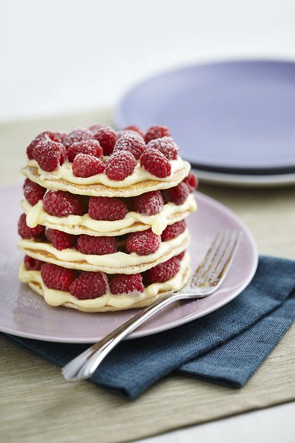 white chocolate raspberry pancake stack by Crave Malay Mail, via Flickr