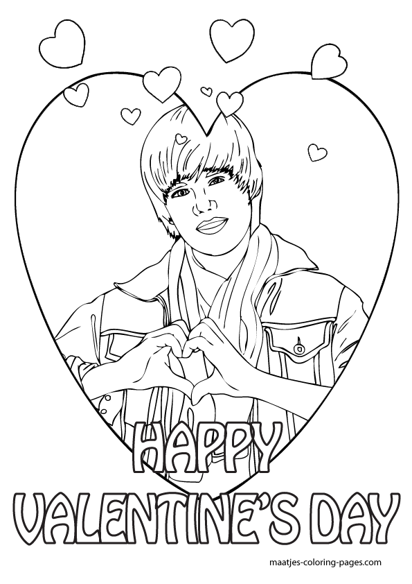 More Justin Bieber Valentine\'s day coloring pages on: maatjes ...